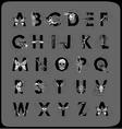 Polygonal geometric font vector image vector image