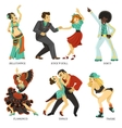 Popular Native Dance Flat Icons Set vector image vector image