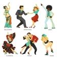 popular native dance flat icons set vector image