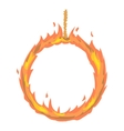 Ring of fire icon cartoon style vector image vector image