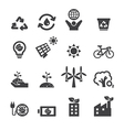 save the earth icons vector image vector image