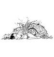 Sea woman vector image vector image