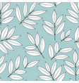 seamless pattern with branches on a turquoise vector image vector image
