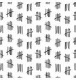 seamless pattern with crossed out lines or tally vector image vector image