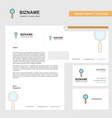 search business letterhead envelope and visiting vector image vector image