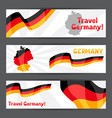 Set banners with flags and map germany