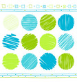 set of scribble elements vector image