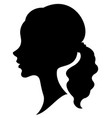 silhouette a profile a sweet lady s head a vector image