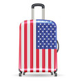 travel luggage bag united state america flag vector image vector image