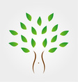 Tree with slim figure showing weight loss vector image