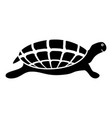 turtle tortoise icon black color vector image vector image