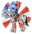us cavalry vector image vector image