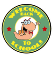 Welcome back to school logo vector image vector image
