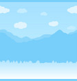 winter seamless horizontal background vector image vector image