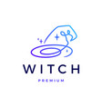 witch hat logo icon vector image