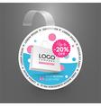 Wobbler design template Sale event vector image vector image