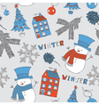 background with snowman vector image