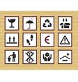 packing symbols vector image