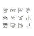 Online services simple line icons vector image