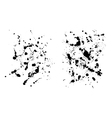 Two grungy ink blob textures for your designs vector image