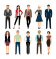 casual office people icons set vector image