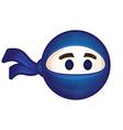 Ninja logo Flat icon vector image