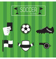 soccer accessories and icons set vector image