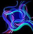 3d transparent curved wave vector image vector image