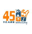 45 year gift box ribbon anniversa vector image vector image