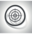 Aiming mark sign sticker curved vector image