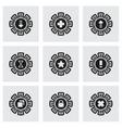 Archive icon set vector image