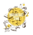 background Hand drawn breakfast vector image vector image