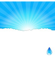 Background With Water Drop vector image