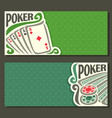 banner for title pokers gamble game vector image vector image