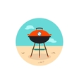 Barbecue grill icon Summer Holiday vector image