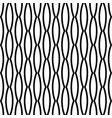 black and white seamless wavy line pattern vector image vector image