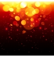 Bright bokeh effect fire abstract background vector image vector image