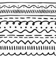 brush stroke pattern vector image