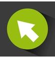button with arrow icon vector image vector image