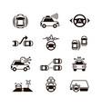 car self control futuristic driving intelligent vector image vector image