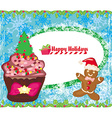 Christmas muffin card vector image vector image