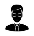 clerk with glasses icon sig vector image vector image