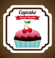 cupcake design vector image vector image