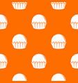 cupcake pattern orange vector image vector image