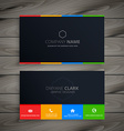 dark clean business card vector image vector image