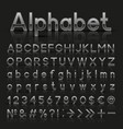 decorative silver alphabet vector image