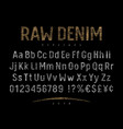 Denim label font 001