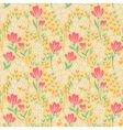 Elegant seamless pattern with pink yellow and vector image vector image