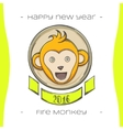 Fire Monkey Five vector image vector image