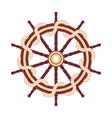 flat outline boat rope handwheel vector image